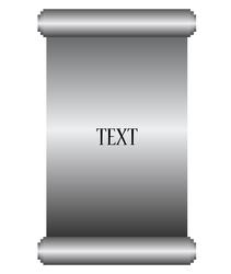 Silver manuscript vector image vector image