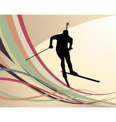 biathlon background vector image