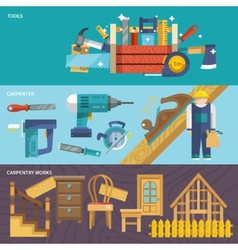 Carpentry banners set vector image