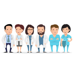 doctor medical worker paramedic vector image