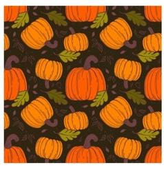 Pumpkin seamless pattern vector image vector image