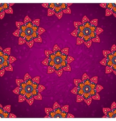 Purple flower pattern vector image vector image