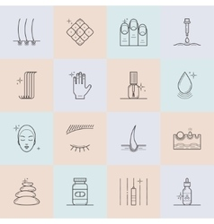 Set of cosmetology line icons vector image vector image