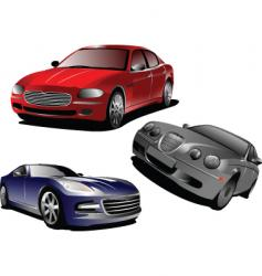 three cars vector image vector image