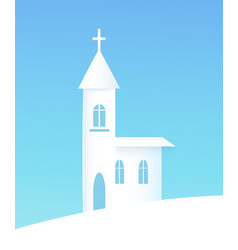 winter poster with church vector image