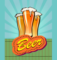 Beer against the backdrop vector