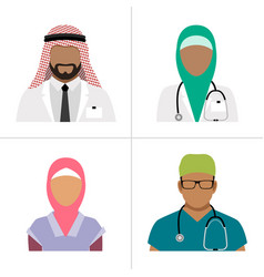muslim health care professionals vector image