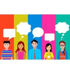 people talk vector image vector image