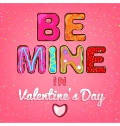 Valentine Be Mine 01 A vector image