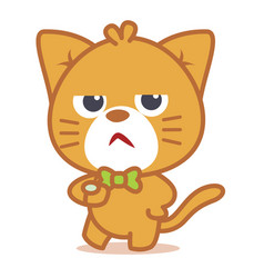 Angry cat character style vector