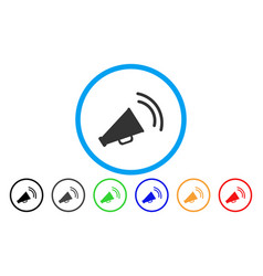 announce horn rounded icon vector image