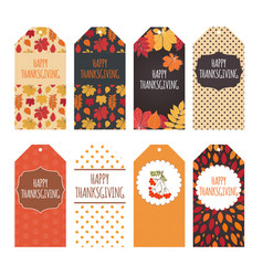 autumn quotes labels template with leaves for vector image