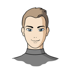 avatar of a man with brown hairavatar and face vector image