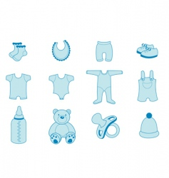 baby clothing vector image