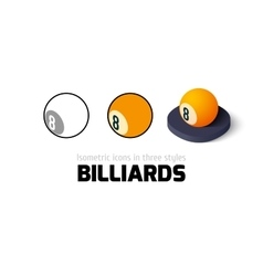 Billiards icon in different style vector image