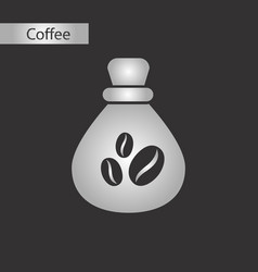 Black and white style bag coffee vector