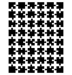 black puzzle 3 vector image