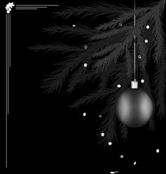 Black white Christmas tree vector