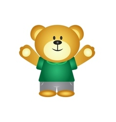 Boy Cartoon Bear vector image