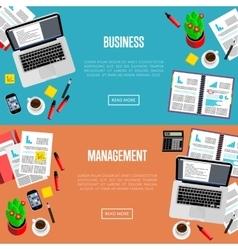Business management website templates vector