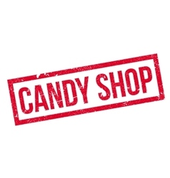 Candy Shop rubber stamp vector