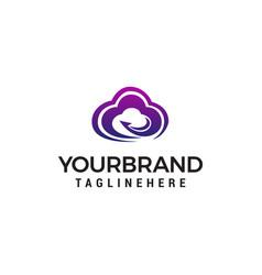 cloud faster logo design concept template vector image