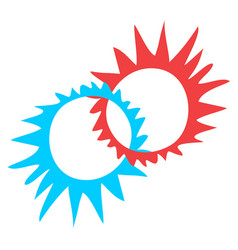 creative circle symbol vector image