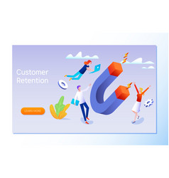 Customer retention or loyalty isometric vector