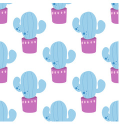 cute summer theme cactus pretty and bright colors vector image