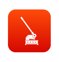 cutting machine icon digital red vector image