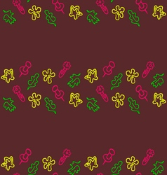 Doodle seamless pattern Back to school vector image