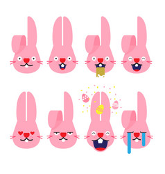 emojisemoji rabbit bunny emotion cartoon vector image
