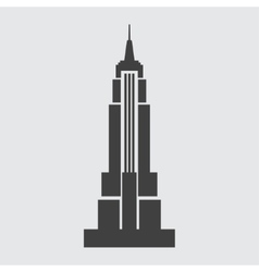 Empire state building icon vector