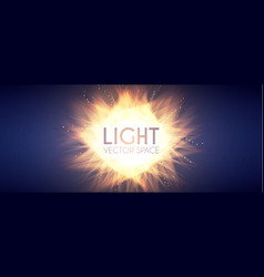 Explosion colorful light and burning fire effect vector