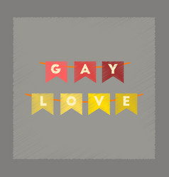 Flat shading style icon gay love garland vector