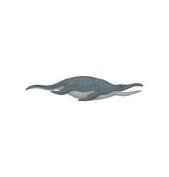 Flat vecrtor design of blue liopleurodon side vector