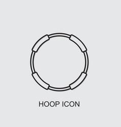 Hoop icon vector