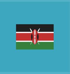kenya flag icon in flat design vector image