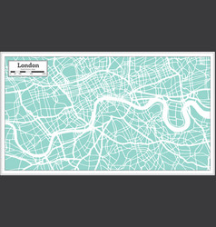 london england city map in retro style outline map vector image