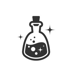 magic potion icon black on white vector image