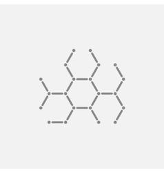 Molecule line icon vector image
