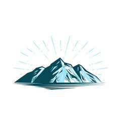 mountain landscape rock nature vector image