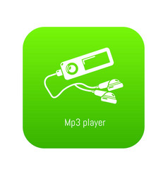 Mp3 player icon green vector