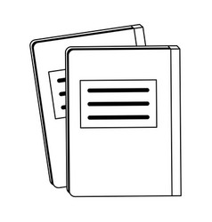 Notebook with page marker icon image vector