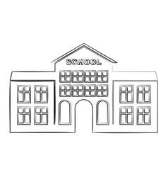 outline school building icon vector image