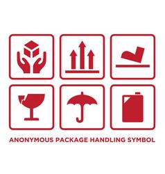 package handling symbol vector image
