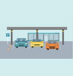 parking zone parking lot design park icon concept vector image