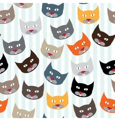 Pattern with cats vector image