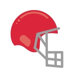 pink helmet mask american football equipment vector image