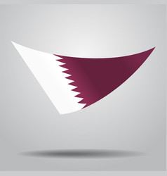 Qatari flag background vector